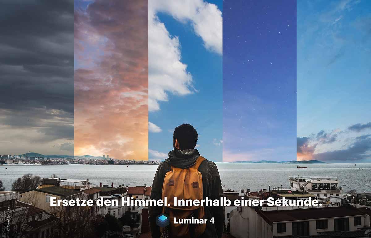 Photoshop Himmel austauschen Luminar 4 Test